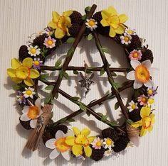 Pentacle, Grapevine Wreath, Grape Vines, Floral Wreath, Wreaths, Home Decor, Decoration Home, Door Wreaths, Room Decor