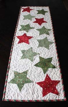 This table runner kit includes the pattern and all of the fabric you need to create your own Christmas Stars Table Runner. You provide the batting
