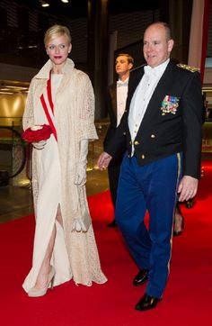 November 19, 2012 - Prince Albert II of Monaco and Princess Charlene of Monaco attend the Monaco National day Gala concert