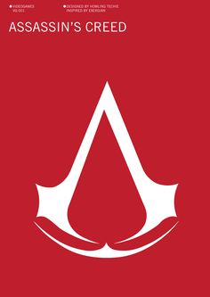 Assassin's Creed Minimalist Poster by howling-techie on DeviantArt Video Game Posters, Minimalist Poster, Assassins Creed, Videogames, Deviantart, Graphic Design, Artwork, Tour, Inspiration