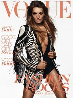Daria Werbowy Vogue Australia June 2012 photography by Daniel Jackson Vogue Covers, Vogue Magazine Covers, Fashion Magazine Cover, Fashion Cover, V Magazine, Daniel Jackson, Daria Werbowy, Girl Bad, Good Girl