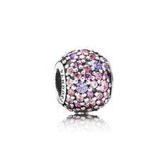 PANDORA | Pink & Purple Pavé Ball Silver Charm - PANDORA