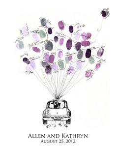05 Luftballon gaestebuch zur hochzeit fingerprint und namen beliebt hochzeit auto Luftballons steigen lassen