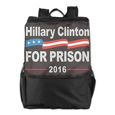Hillary Clinton For Prison 2016 Womens Black Cute Compact Sport Adjustable Strap Shoulder Bag >>> You can find out more details at the link of the image.