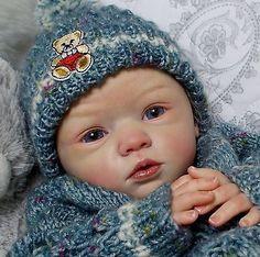 Reborn doll baby boy~Maike~Gudrun Legler~PEEK-A-BOO Nursery~Janet Henderson