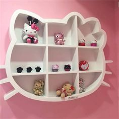 Beautiful Ways to Hello Kitty Bedroom (Makeover/Remodel) Ideas Hello Kitty Nursery, Hello Kitty Room Decor, Hello Kitty Rooms, Hello Kitty House, Hello Kitty Themes, Hello Kitty Art, Cat Bedroom, Girls Bedroom, Bedroom Decor