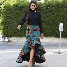 seamapplique by Reowned ( African Fashion Skirts, African Dresses For Women, African Print Dresses, African Print Fashion, Africa Fashion, African Attire, African Wear, Modern African Fashion, Fashion Outfits