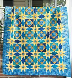 Starry Night Storm At Sea By Wright, Jean Ann - 64in x 76in. Uses Creative Grids CGR2P1 and CGRJAW8. Project Time: 6 Hour+. Fabric Type: Yardage Friendly. Project Type: Quilt. CLP patterns are printed on 8-1/2in x 11in, anti-copy card stock. Because they are customized with your shop's Bill-to account name, phone number and web site, they are not returnable.