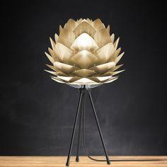 Vita Silvia brushed brass lamp shade
