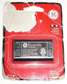 GE NICKEL METAL HYDRIDE RECHARGEABLE 36411 CORDLESS PHONE BATTERY 3.6V 850 MAH #GE