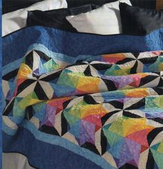 Spinning Color Wheel Quilt Pattern Pieced KN