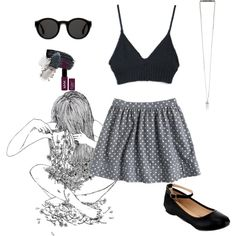 A fashion look from October 2014 featuring zip back skirt, ankle strap flat shoes and crystal pendant necklace. Browse and shop related looks. Ankle Strap Flats, Crystal Pendant, Polyvore Outfits, Fashion Looks, Skirts, Summer, Shopping, Skirt Outfits, Skirt
