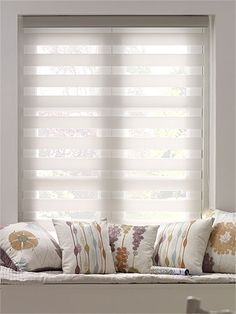 Premier Flat Sheer Shades Enjoy Vision White Roller Blind from Blinds Diy Blinds, Fabric Blinds, Wood Blinds, Curtains With Blinds, Window Blinds, Sheer Blinds, Shades Window, Hang Curtains, Privacy Blinds