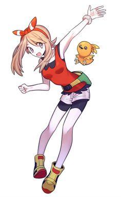 May and Torchik Pokemon Rosa, Pokemon Fan, Sapphire Pokemon, Powerful Pokemon, Pokemon Advanced, Gijinka Pokemon, Pokemon People, Character Design Girl, Pokemon Special