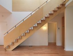 The Matchbox House by Bureau for Architecture - interesting stair railing + step details.