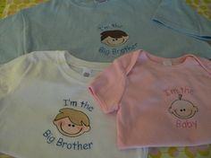 Custom Big Sister Little Sister Big Brother Big by sewmeamemory, $18.00