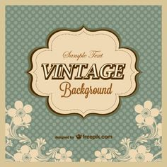 Vintage polka dots background template Free Vector