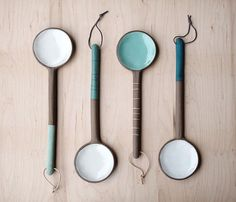I swoon for these lovely spoons from Paulova Ceramics.