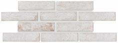 www.nandatiles.com, cerámica artesanal, hand tiles   NY BRICK stone white