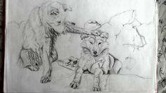 Draw cute wolfs