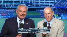 The voices of the Texas Rangers, Steve Busby and Tom Grieve