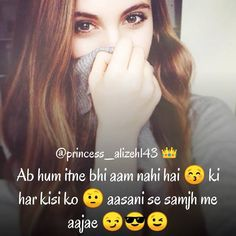 Itne bhi aam nahi h hm Attitude Quotes For Girls, Girl Attitude, Girl Quotes, Me Quotes, Girl Photography, Poetry, Abs, Mood, Quotes About Girls