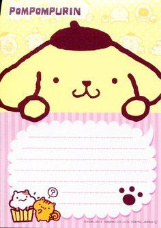 Kawaii memo paper - Sanrio - Pom Pom Purin