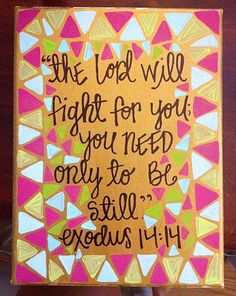 hand painted canvas exodus 14 by OliverandBean on Etsy, $15.00....love this!