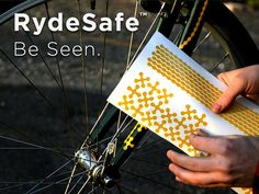 RydeSafe decals.  Decorate your bike with cool glow in the dark decals!