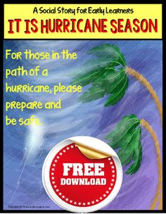 Hurricanes can be scary for kids and we hope that this free social story resource will help your students, or even our own children understand that a hurricane won't last forever. For those of us sitting in the path of Hurricane Matthew, (yes, we are, too) read this social story to your students.