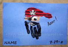 handprint-and-footprint-art Pirate Craft