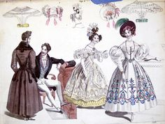 1893 fashion plate from MICET costume archives