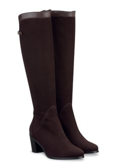 Idette Brown Suede & Leather ladies-boots list