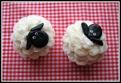Fowl Single File blogspot: Not Baaaad for a Sheep Cake (and Cupcakes!)