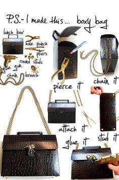 DIY: 10 Stylish Handbags You Can Make at Home. Thread Chains, Diy Handbag, Stylish Handbags, Diy Fashion, Fall Fashion, Sewing Crafts, Purses And Bags, Easy Diy, Diy Projects