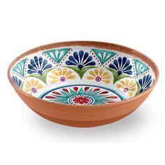Life Happens Rio Medallion Low serving bowl set with 1 piece Ceramic Painting, Ceramic Art, Painted Ceramics, Ceramic Bowls, Crackpot Café, Color Me Mine, Keramik Design, Pottery Painting Designs, Grands Vases