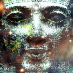 "Art piece ""Emerald Tablet"""