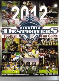 2012-11 Defending Champion Virginia Beach Destroyers Program Cover.