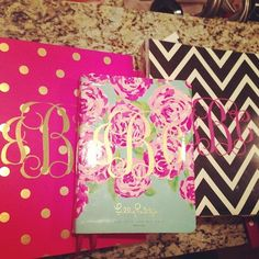 Because, why wouldn't you want your school supplies monogrammed? I HAVE THAT POLKA DOT BINDER