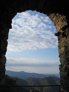 Vistas desde el monasterio de Sant Pere de Rodes (El Port de la Selva, Girona)