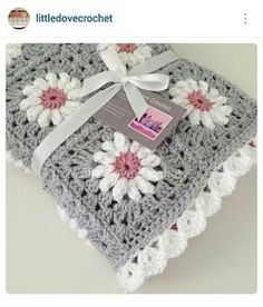 Image result for granny square baby blankets in grey and white