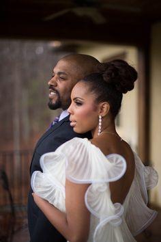Elopement in Atlanta - Lisa & Kenny - The Bride's Cafe  African American Bride, Black Bride.
