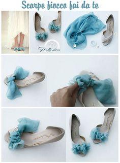 scarpe sposa fai da te