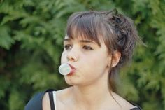 You can make your own homemade chewing gum using natural ingreidents.