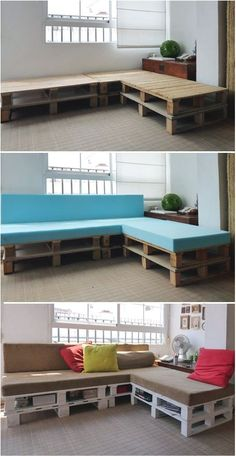 This pallet sofa ticks all the boxes when it comes to creating something from practically nothing and is a perfect addition to any game or media room, apartment, or urban/industrial loft. Moreover, if youre in need of extra napping space, rumor has it, this sleeper is 5-star worthy.