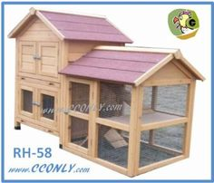 RH-58 2 Story W/Run Rabbit Hutch with Storage for Hay / Straw:Amazon:Pet Supplies