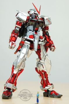 GUNDAM GUY: MG 1/100 Gundam Astray Red Frame Kai - Metallic Color Painted Build