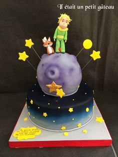 Le petit prince gâteau little prince cake The Little Prince, Cake Decorating, Birthday Cake, Kids, Cakes, Baby, 1 Year, Pies, The Petit Prince