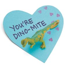 Love this easy valentine! All kids like dinosaurs!