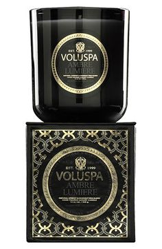 Voluspa 'Maison Noir - Ambre Lumiere' Scented Candle available at #Nordstrom